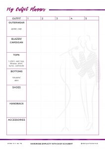 Outfit Planner Template